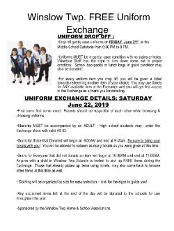 WINSLOW TOWNSHIP FREE UNIFORM EXCHANGE